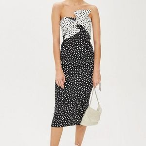 Topshop Strapless Bow Dress